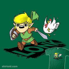 LONK   Shirtoid #carlo_btz #chicken #cucco #gaming #link #lonk #meme #thelegendofzelda #videogame