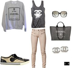 """CHANEL outfit"" by deedee-5s on Polyvore"