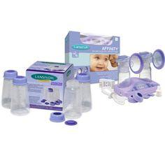 Lansinoh - Affinity Double Electric Breast Pump w/Milk Storage Bottles, Value Bundle