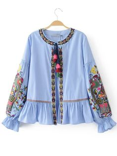 Cheap blusas fashion, Buy Quality blusas style directly from China blouse fashion Suppliers: 2017 Fashion Women Ethnic style Sequin embroidery Stripe Shirts Long sleeve Blouses Casual Loose Tops chemise femme blusas Striped Long Sleeve Shirt, Long Sleeve Tops, Striped Cardigan, Coatdress, Ethnic Fashion, Womens Fashion, Shirt Embroidery, Floral Embroidery, Embroidery Blouses