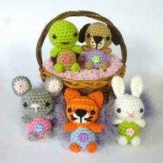Minimals-Little Pet Shop (janineholmes1) Tags: dog pet baby cute rabbit bunny shop cat puppy mouse kitten pattern little turtle crochet tortoise mice tiny kawaii amigurumi minimals mojimojidesign