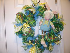 2016 Easter Bunny Wreath.. created and designed by Wreaths Bows and Things