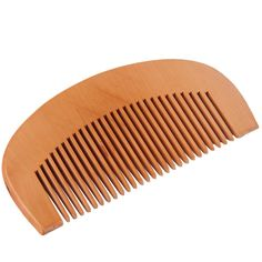 Natural Wide Tooth Wood Comb Peach Wood no-static Massage Hair Health Comb Hair…
