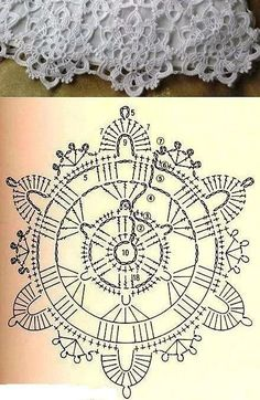 Best 12 Motive 198 in World Crochet – Craft Day Crochet Flower Squares, Free Crochet Doily Patterns, Crochet Snowflake Pattern, Crochet Doily Diagram, Crochet Snowflakes, Crochet Chart, Thread Crochet, Crochet Designs, Crochet Lace
