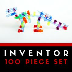 With 100 pieces in the #inventor set, you can #build and #learn through #play! #brackitz #STEM #buildingtoys