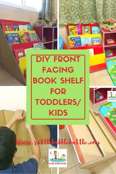 DIY FRONT FACING BOOK SHELF FOR TODDLERS/KIDS - Rattle Babble Battle
