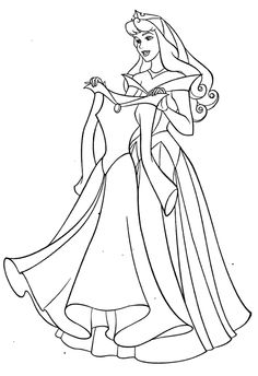 aurora and new dress coloring pages