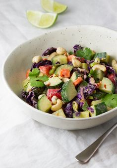 CUCUMBER SALAD + PEANUT CITRUS DRESSING... Cool and refreshing, it's a ...