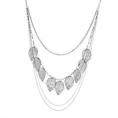 Sale 25% (2.69$) - Bohemian Multilayer Hollow Out Leaves Long Chain Necklace For Women