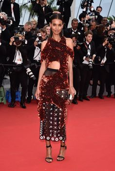 Cannes 2015 - Liya Kebede in Proenza Schouler - Day 2 (montée des marches Mad Max: Fury Road)