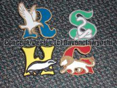 Hogwarts Houses Pins by ravenclawyoshi.deviantart.com on @DeviantArt