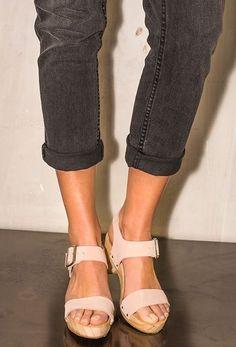 Collection chaussures femme tendance mode printemps été 2017 Sandale sabot  en cuir la redoute ebb2b11ec434