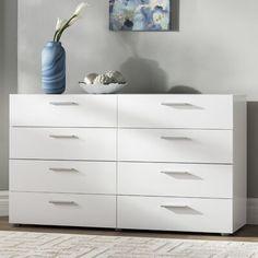 Pannell 8 Drawer Double Dresser on Mercari 8 Drawer Dresser, Dresser Storage, Chest Dresser, Teen Dresser, Room Ideas Bedroom, Bedroom Furniture, Bedroom Decor, Master Bedroom, Modern Bedroom