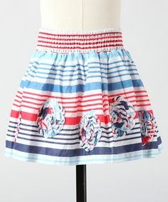 Take a look at this Sky Blue Garden Skirt - Toddler & Girls by Down East Basics on #zulily today!