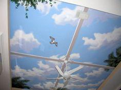 Murals by Glenn Adkins West Palm Beach South Florida Mural Artist Sky Ceiling, Ceiling Murals, Door Murals, Mural Wall Art, Mural Painting, Ceiling Design, Paintings, Murals Street Art, Beach Mural
