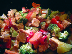 (slow cooker) sweet and sour tofu #vegan