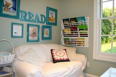 Homeschool room reading area