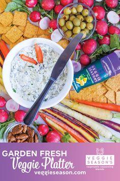 Kernel Season's, Veggie Platters, Spinach Artichoke Dip, Vegetable Seasoning, Yummy Appetizers, Parmesan, Searching, Cravings, Veggies