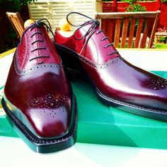 http://chicerman.com ascotshoes: How this combination from Vass. Bordeaux Scotchgrain around the eyelets and Bordeaux calf on the lower section I Were an online shoe shop based in the UK. Please email Sammy for consultation on Sizing Fitting Made To Order MTO Stock & Prices. All our Vass shoes are individually hand stitched with the upmost attention to detail and aesthetically finished to meet all client needs. Certain models are available immediately. Contact us for details. I EMAIL- A...