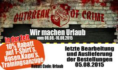 In der Zeit 10% Rabatt-Code: Urlaub  www.outbreak-of-crime.de