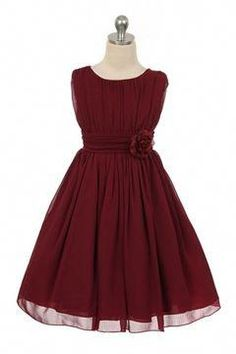 Wedding Theme Ideas Burgundy wrinkled chiffon flower girl dress, perfect to wear as part of the wedding party or even as a guest! Burgundy is always a beautiful choice for a wedding theme or glamorous party! Luxury Wedding Dress, Sexy Wedding Dresses, Glamorous Wedding, Wedding Outfits, Fall Flower Girl, Flower Girls, Burgundy Dress, Flower Girl Dresses Burgundy, Burgundy Bridesmaid