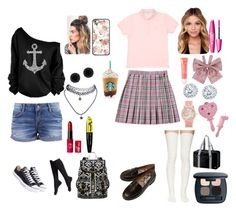 """pink *dress*and*perfume as japanese kawaii schoolgirl"" by sailorangel ❤ liked on Polyvore"