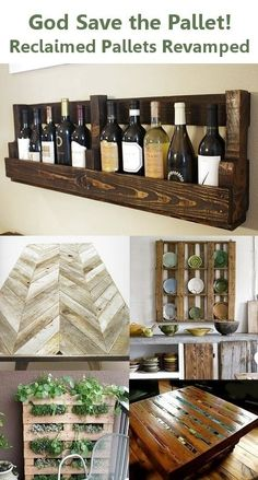 Creative ways to use a pallet. Love the table top. This is what I would like for the basement ceiling.