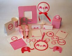 Printable Elephant Baby Shower for girls