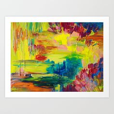 GOING THROUGH THE MOTIONS -  Stunning Saturated Bold Colors Modern Nature Abstract Art Print by EbiEmporium - $21.00