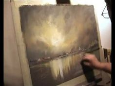 Pastel Demonstration Landscapes Skies and reflections with limited palette by Les Darlow .wmv