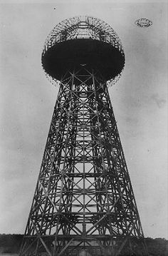 "Tesla Tower erected in Shoreham, Long Island, New York was 187 feet high, the spherical top was 68 feet in diameter. The Tower, which was to be used by Nikola Tesla is his ""World Wireless"" was never finished. Ufo, Wardenclyffe Tower, Obelisk, Tesla Coil, Energy Projects, Conspiracy Theories, Ancient Aliens, Cool Stuff, World"