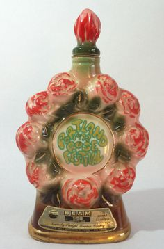 1972 Portland Rose Festival Jim Beam Collectible Decanter.