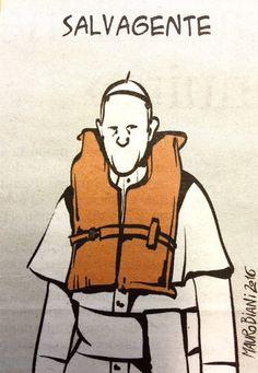 Pape François - Pope Francis - Papa Francesco - Papa Francisco : 16 avril 2015 en Grèce à Lesbos auprès des Migrants - Antonio Spadaro SJ sur Twitter