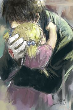 It took me like five seconds to see this was Roy and Elysia and now I am crying.  That moment in FMA has seriously haunted me to this day.  When someone asked me about the show I say 'it is one of my favorite shows of all time but my heart has holes in it from the emotional beating it got.'