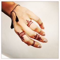 henna inspired finger tattoos - Google Search
