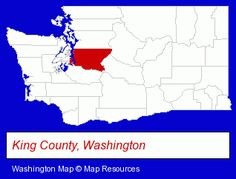 King County, Washington locator map