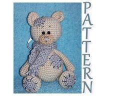 Crochet Bear, Beige, Grey, Crochet Patterns, Teddy Bear, Pdf, Etsy Shop, Toys, Unique Jewelry