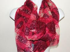 Tommy Hilfiger Women's Red/Multi 100% Acrylic Scarf FREE Shipping NWT #TommyHilfiger #Scarf