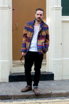 Coggles street style. Great colours in the cardigan.