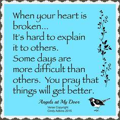 Broken Heart~From Angels at My Door on Facebook
