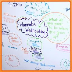 Makes my happy to see my students' dreams for the future! Shamelessly inspired…