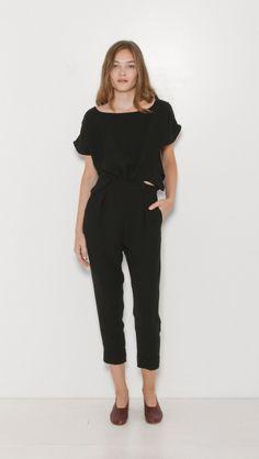 Rachel Comey Paloma Jumpsuit in Black | The Dreslyn