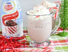 Coffee-mate Peppermint Mocha Frozen Hot Chocolate Recipe #CMcantwaitCGC | Flour On My Face
