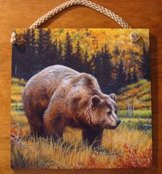 Gorgeous Grizzly Bear Wood Sign Rustic Lodge Primitive Log Cabin Home Decor New | eBay