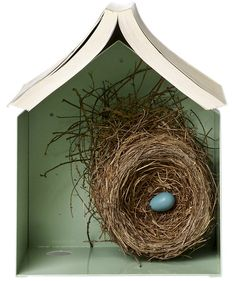 Birdhouse Bookshelf | Not sure what to give the soon-to-be-married? Consider one…