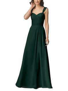 DescriptionWtoo by Watters�Style 906Full length bridesmaid dressSweetheart neckline with strapsGathered a-line skirtCrystal chiffon