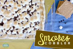 S'mores Cobbler - Rich, gooey and delicious! Just like s'mores should be! Easy recipe that can serve a crowd and is sure to be a hit! Chocolate Cake Mixes, Chocolate Pudding, Something Sweet, Graham Crackers, Cobbler, Crowd, Sweet Treats, Deserts, Easy Meals