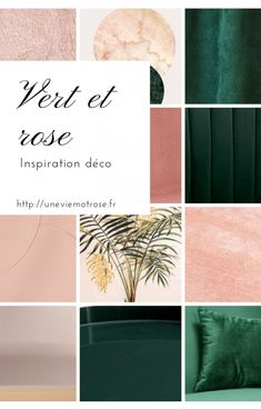 Decorative inspiration # 4 Green and pink Gatsby style Gold Color Palettes, Green Colour Palette, Gold Bedroom, Bedroom Green, Forest Green Bedrooms, Palette Verte, Deco Rose, Rose Decor, Salon Design