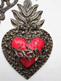 Corazón lata mexicana Set 3 corazones corazones mexicanos