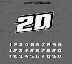 Fonte de tipografia de corrida com númer. Typography Fonts, Typography Design, Lettering, Number Fonts, Typed Quotes, Sign Design, Aesthetic Art, Race Car Stickers, Vector Free